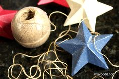 Hanging Stars – DIY 4th of July Decor