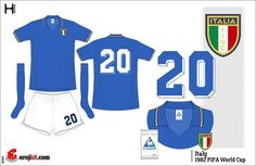 Italy home kit for the 1982 World Cup Finals.