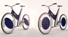 Ele is a solar bicycle with solar panels on its wheels that rotate 30 degrees on both sides, to face toward sun. This is to absorb as much s...
