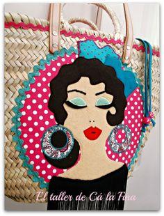 """Capazo flamenco """"Fandango"""" (detalle) #capazosdecorados #capazospersonalizados #capazos"""