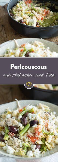 Couscous quellen lassen mit ein paar Zutaten vermengen - schon ist dein Feierabendessen bereit, um dich auf den gemütlichen Teil des Abends einzustimmen.