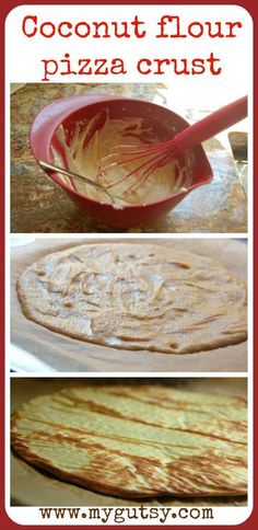 Coconut Flour Pizza Crust.