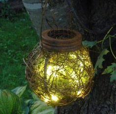 Set of 6 Rustic Outdoor Firefly Lantern Woodland Garden Wedding | BriannaPaigeDesigns - Wedding on ArtFire