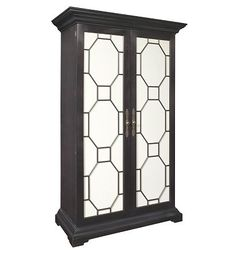 Evan Armoire/Ent Center w/Antique Mirror Door Panels-Opt Fin from the James River collection by Hickory Chair Furniture Co. Foyer Furniture, Hickory Furniture, Hickory Chair, Shop Lighting, Interior Lighting, Mirror Door, Panel Doors, Glass Shelves, Wood Doors