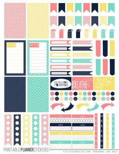 Spring Pastel Printable Happy Planner Stickers - FREE