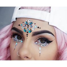 Face Jewels EDC Rave outfits, Festival Diamond Face Sticker, Adhesive Makeup rhi… – My CMS Festival Gems, Festival Face Jewels, Festival Make Up, Festivals, Coachella Make-up, Make Carnaval, Festival Makeup Glitter, Face Jewellery, Diamond Jewellery