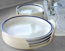 Stack-a-Plate with non-slip backing, Use in your cabinet to keep plates organized, and to stop them from sliding and rattling. Plates stay in place while traveling and are more protected from breakage