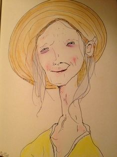 Matthew Gray Gubler (of Criminal Minds fame) - I like his simple line drawings.