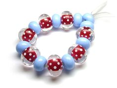 Red & Blue by Beads By Laura, via Flickr