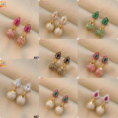Gold Heart Stud Earrings/ Minimalist Earrings/ Heart Earrings/ Rose Gold Earrings/ Gift for Her/ Dainty Earrings/ Tiny Gold Heart Studs/ Soul mates aren't limited to what we've seen in storybooks. Gold Jhumka Earrings, Jewelry Design Earrings, Gold Earrings Designs, Gold Jewellery Design, Jewelry Necklaces, Bracelets, Jewellery Uk, Earings Gold, Buy Earrings