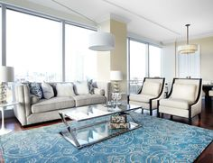 RoomReveal - The Ritz, Condo- Living Space, Toronto by Lux Design Inc.