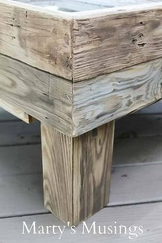 This DIY tutorial explains how to make a window table for the rustic look for practically nothing. Great furniture idea for the repurposed shabby chic look. Timber Furniture, Distressed Furniture, Deco Furniture, Refurbished Furniture, Farmhouse Furniture, Design Furniture, Unique Furniture, Cheap Furniture, Shabby Chic Furniture
