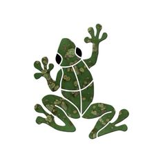 For Steps :: Small Mosaics :: Small Frog - Blue Water Pool Mosaics Mosaic Garden Art, Mosaic Art, Mosaic Glass, Stained Glass Patterns, Mosaic Patterns, Stained Glass Art, Mosaic Crafts, Mosaic Projects, Small Frog