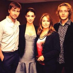Cast of Reign on the CW, Bash (Torrance Coombs), Mary (Adelaide Kane), Catherine (Megan Follows), Francis (Toby Regbo).