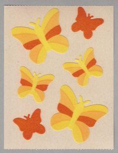 Sandylion DAISIES YELLOW /& ORANGE Strip of VINTAGE Stickers RETIRED RARE