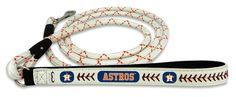 Houston Astros Baseball Leather Leash - M
