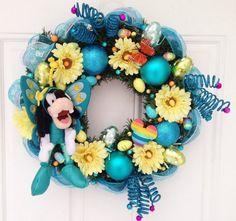 Disney Easter Wreath Goofy by SparkleForYourCastle on Etsy, $84.00