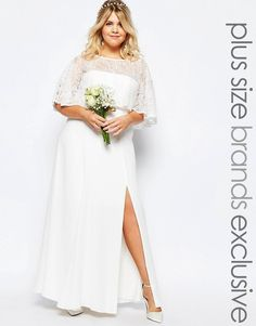 Fame and Partners Plus Fame And Partners Plus Bridal Lace Maxi Dress, Wedding Dresses Hochzeitskleider Schuhe Atemberaubende Kleider für Deine Hochzeit. Amazing plussize wedding dresses. Be a beautyful bride.