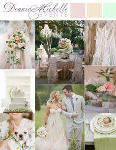 Pretty English Garden wedding inspiration mood board by Deanie Michelle Events Dallas Wedding Planner