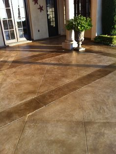 Polished Concrete Floor Gray Stain Stained Floors