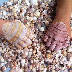 .@Janine Hornung | M wie Muschel !!! #abcfee #muschel #shell #hand