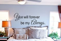 28 Best Bedroom Wall Quotes images in 2019 | Wall decals for ...
