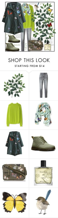 """""""Green ecology"""" by natalyapril1976 ❤ liked on Polyvore featuring Golden Goose, Chicwish, Banana Republic, WithChic, Dr. Martens, Valentino, Miller Harris and Nancy Gonzalez"""
