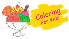 Coloring Pages For Kids With Ice Cream Coloring Book - Pi n' Mo