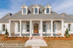 Madden Home Design - Acadian House Plans, French Country Hou.- Madden Home Design – Acadian House Plans, French Country House Plans - French Country Exterior, French Country House Plans, Southern House Plans, Southern Homes, Country Style Homes, Country Houses, Low Country, Modern Country, Southern Charm