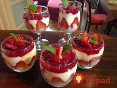 Zdravé jahodové poháre bez cukru. Geniálny dezert, ktorý milujú malí aj veľkí!