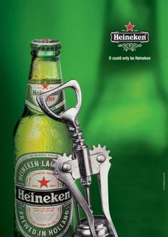 LEANING ON A BOTTLE, Heineken, Baumann Ber Rivnay Saatchi & Saatchi, Heineken, Print, Outdoor, Ads