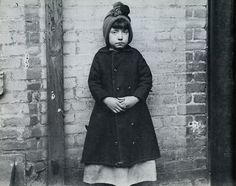 Girl from the West 52nd Street industrial school, New York, circa 1890.  From How the Other Half Lives by Jacob Riis.