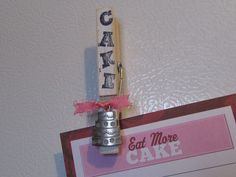 Cake Magnet, Baker's Magnet, Baking Magnet, Cake Kitchen Decor, Cake Home Decor, Cake Artist Magnet, Baker Magnet, Decorated Clothespin,Cake by SamsSweetArt on Etsy