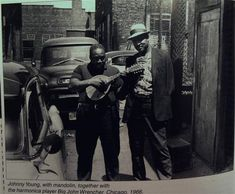 Blues mandolinist Johnny Young and harmonica player Big John Wrencher, Chicago, 1966.