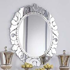 American Drew Jessica McClintock Collection: ROUND VENETIAN MIRROR #jessicamclintock #americandrew #designer #inspiration #mirror #furniture