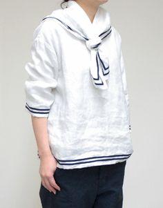 sailor top, cute!