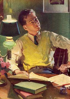 """""""Good Housekeeping"""", 1940. Harold Anderson, American illustrator"""