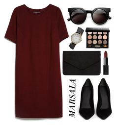 """#18"" by mandyhoran1 ❤ liked on Polyvore featuring MANGO, Alexander Wang, NARS Cosmetics, Bobbi Brown Cosmetics, Dorothy Perkins, Topshop, Retrò and marsaladress"