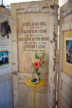 Love this recycled door
