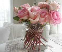 Roses and white wash