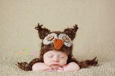 Sweet Love Creates — Barn Owl Earflap Hat
