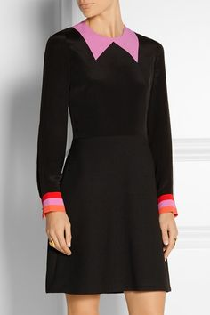 Roksanda | Clifton crepe de chine and twill mini dress | NET-A-PORTER.COM