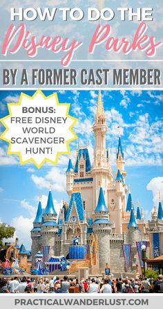 Disney Parks secrets and tips for Disney World and Disneyland in California and Florida, USA. How to save money at Disney, how to avoid lines at Disney, secret backstage photos, and an epic Disney World Scavenger Hunt!