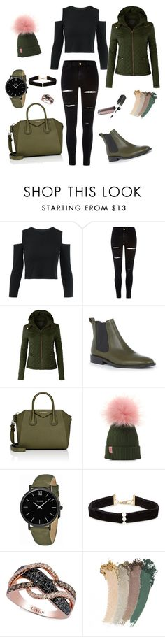 """""""Untitled #12"""" by anelaljic ❤ liked on Polyvore featuring River Island, LE3NO, Warehouse, Givenchy, CLUSE, Anissa Kermiche, LE VIAN and Gucci"""