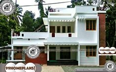 House In A Box with Double Floored City Style Simple Home CollectionsIndian Urban Style House In A Box Shape Design Plans with Elevation Home Design Images, House Design Pictures, Floor Plan 4 Bedroom, 4 Bedroom House Plans, Indian Home Design, Kerala House Design, Best Modern House Design, Cool House Designs, Style Simple