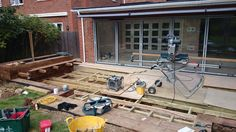 Fitting out deck frame