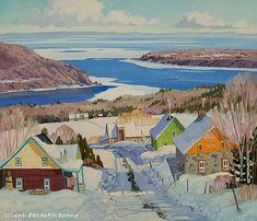 Louise Martineau, 'Descente vers Baie St-Paul', 36'' x 42'' | Galerie d'art - Au P'tit Bonheur - Art Gallery
