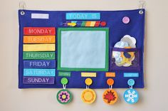 Weekly Weather Felt Board