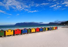 Muizenberg The colorful change rooms along the peninsula seaboard