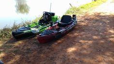 Caiaque Samurai Fishing (verde) / Caiaque Safari Fishing (vermelho)